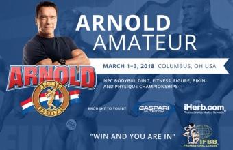Фестиваль Arnold Classic USA 2018 в Колумбусе пройдет под эгидой NPC