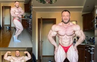 Олег Крывый показал форму за месяц до IFBB European Pro 2020