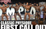 MR OLYMPIA 2018 CLASSIC PHYSIQUE PRE JUDGING FIRST CALL OUT!
