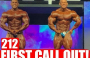MR OLYMPIA 2018 212 FIRST CALL OUT!