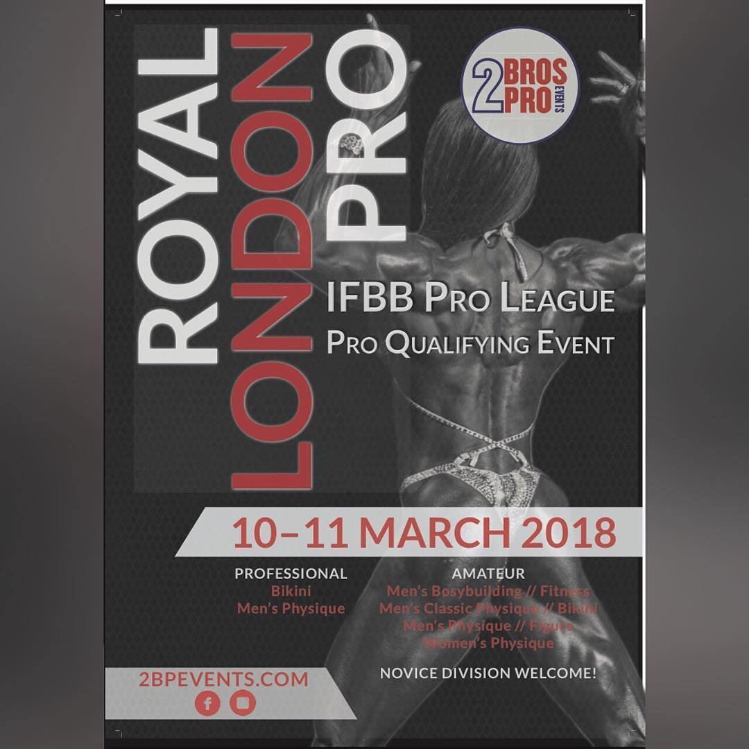 10-11 March  the London Royal Pro 2018