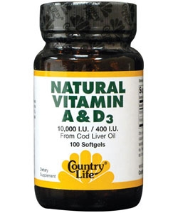 Country Life Natural Vitamin A&D