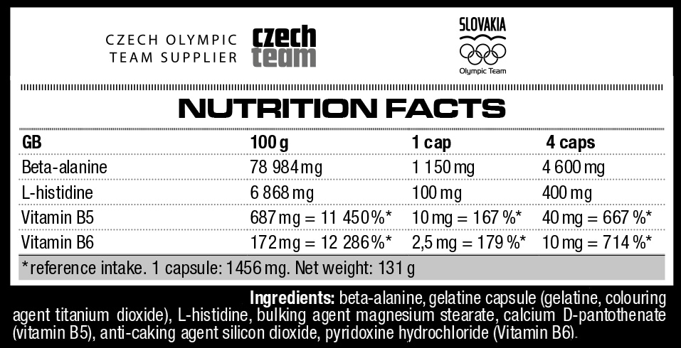 Nutrend Beta-Alanine Compressed Caps