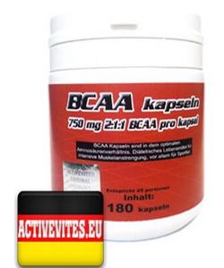 Activevites BCAA Kapseln (180 капсул, 45 порций)
