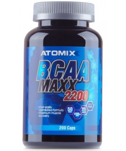 ATOMIXX BCAA MAXX 2200 (200 капсул, 50 порций)