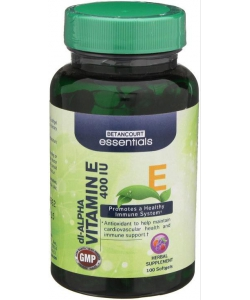 Betancourt Nutrition Vitamin E 400 IU (100 капсул)