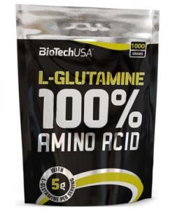BioTech USA 100% L-Glutamine (1000 грамм, 200 порций)