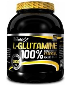 BioTech USA 100% L-Glutamine (500 грамм, 100 порций)