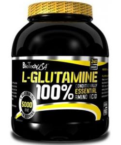 BioTech USA 100% L-Glutamine (240 грамм, 48 порций)