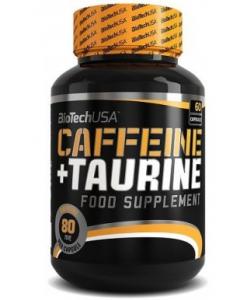 BioTech USA Caffeine+Taurine (60 капсул, 60 порций)