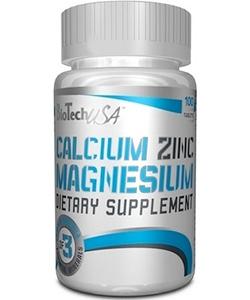 BioTech USA Calcium Zinc Magnesium (100 таблеток)