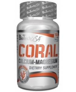 BioTech (USA) Coral Calcium + Magnesium (100 таблеток)