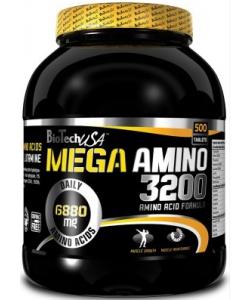 BioTech USA Mega Amino 3200 (500 таблеток, 166 порций)