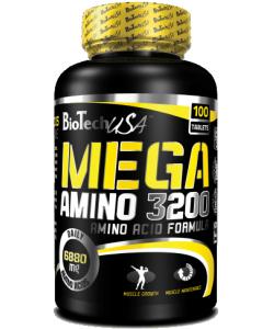 BioTech USA Mega Amino 3200 (100 таблеток, 33 порции)