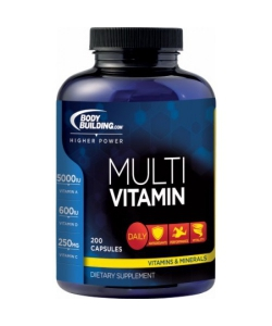 Bodybuilding.com Multivitamin (200 капсул, 100 порций)