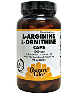 Country Life L-Arginine, L-Ornithine (90 капсул)
