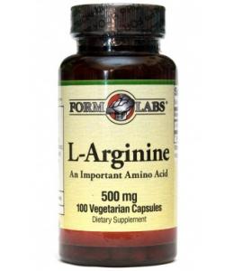 Form Labs L-Arginine 500 mg (100 капсул, 100 порций)