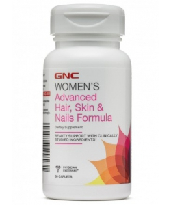 GNC ADVANCED HAIR, SKIN AND NAILS (60 капсул, 30 порций)