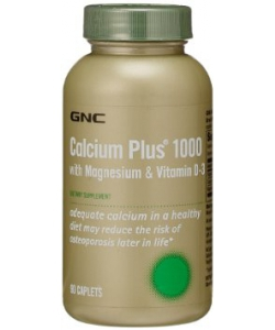 GNC Calcium Plus 1000 with Magnesium & Vitamin D-3 (90 капсул)