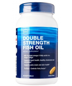 GNC Double Strength Fish Oil (90 капсул, 90 порций)