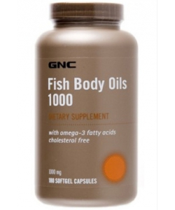 GNC Fish Body Oils 1000 (180 капсул, 180 порций)