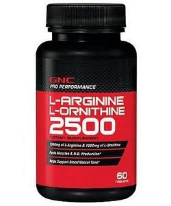 GNC L-Arginine L-Ornithine 2500 (60 таблеток)