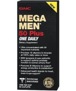 GNC Mega Men 50 Plus One Daily (60 капсул, 30 порций)