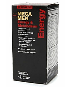 GNC Mega Men Energy & Metabolism (180 капсул, 90 порций)