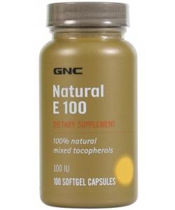 GNC Natural E 100 (100 капсул)