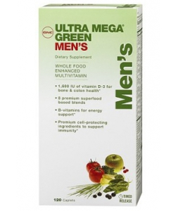 GNC Ultra Mega Green Men's (120 капсул, 60 порций)
