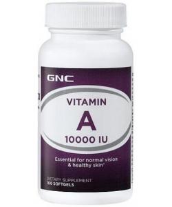 GNC Vitamin A 10,000 (100 капсул)