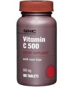 GNC Vitamin C 500 mg with Rose Hips (100 таблеток)
