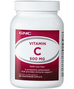 GNC Vitamin C 500 mg with Rose Hips (250 капсул)