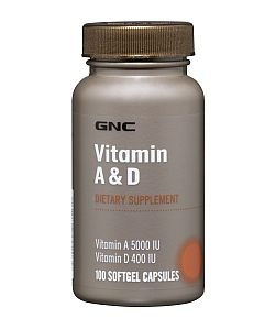 GNC Vitamin A & D (100 капсул, 100 порций)