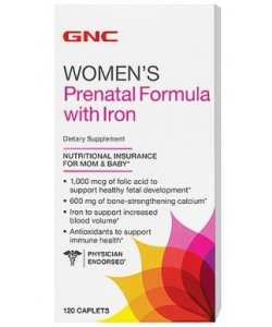 GNC Women's Prenatal Formula with Iron (120 капсул)