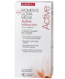 GNC Women's Ultra Mega Active Without Iron (180 капсул)