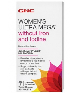 GNC Women's Ultra Mega without Iron and Iodine (90 капсул)