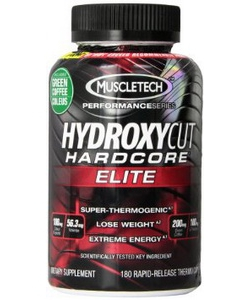 MuscleTech Hydroxycut Hardcore Elite (180 капсул)