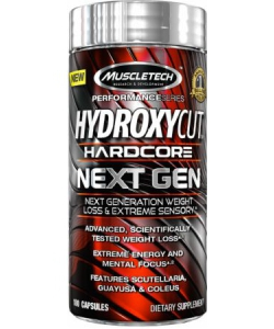 MuscleTech Hydroxycut Hardcore Next Gen (180 капсул)
