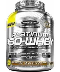 MuscleTech Platinum 100% Iso-Whey Essential Series (1510 грамм, 48 порций)