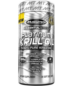 MuscleTech Platinum 100% Pure Krill Oil Essential Series (30 капсул)