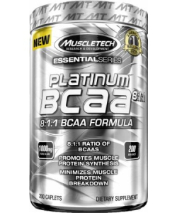 MuscleTech Platinum BCAA 8:1:1 Essential Series (200 капсул, 200 порций)