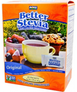 NOW Better Stevia 45 packets x 1 g (45 грамм, 45 порций)