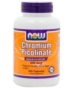 NOW Chromium Picolinate 200 mg (250 капсул, 250 порций)