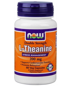 NOW Double Strenght L-Theanine 200 mg (60 капсул, 60 порций)