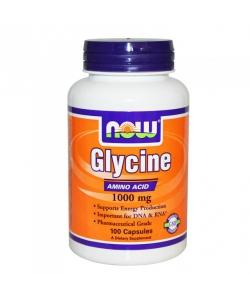 NOW Glycine (100 капсул, 100 порций)