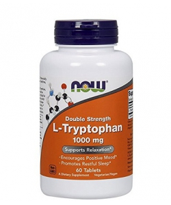 NOW L-tryptophan 1000mg (60 капсул, 30 порций)
