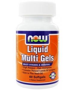 NOW Liquid Multi Gels (60 капсул, 30 порций)