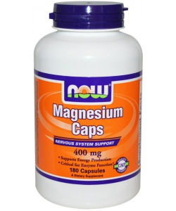 NOW Magnesium Caps 400 mg (180 капсул, 180 порций)