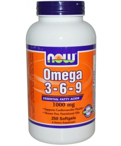 NOW Omega 3-6-9 1000 mg (250 капсул)